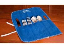 Rolled flatware bag